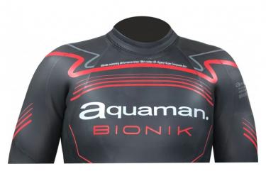Combinaison Neoprene Aquaman Bionik Noir Rouge