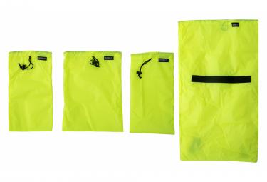 Kit de Sacs de Rangement Surly Petite Porteur Liner Bag Set Jaune Fluo