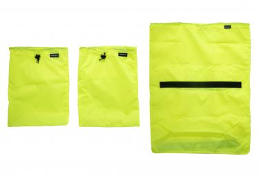 Kit de Sacs de Rangement Surly Porteur House Liner Bag Set Jaune Fluo
