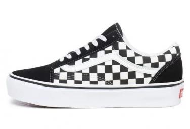 Chaussures Femme Vans Old Skool Platform Checkerboard