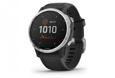 Garmin fenix 6S Solar GPS Reloj plateado con correa negra