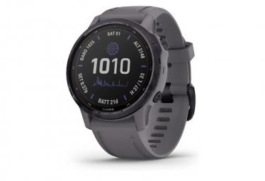 Garmin Fenix 6s   Reloj Gps Pro Solar Edition Acero Amatista Con Correa Gris Esquisto