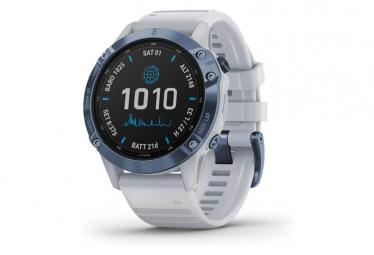 Garmin fenix 6 - Reloj GPS Pro Solar Edition Azul mineral con correa Whitestone
