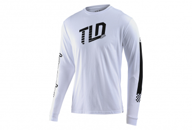 Troy Lee Designs Trackside Long Sleeve T-Shirt White