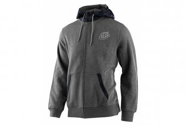 Troy Lee Designs Shield Classic Zip sudadera con capucha gris