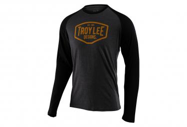 Troy Lee Designs Motor Oil Raglan Long Sleeve Jersey Black