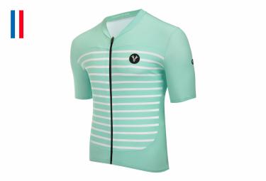 LeBram Ventoux Celestial Green Kurzarm Jersey Tailored Fit