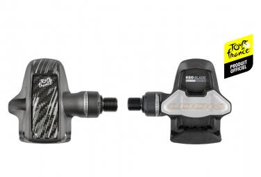 Paire de Pédales Automatiques Look Keo Blade Carbon Ceramic Tour de France Noir Gris