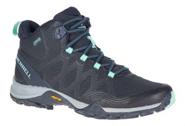 Image of Chaussures de randonnee femme merrell siren 3 mid gtx bleu 37