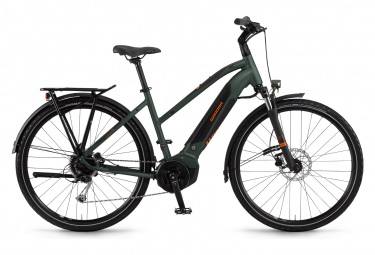 Bicicleta Híbrida Eléctrica Winora Yucatan i9 Women 700 Vert
