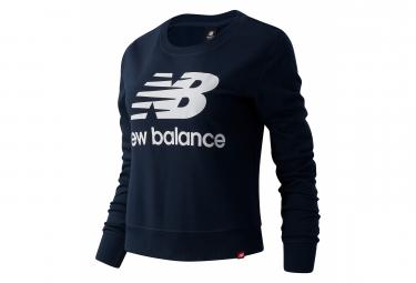 New Balance Essentials Logo Sudadera Azul Mujer Xs