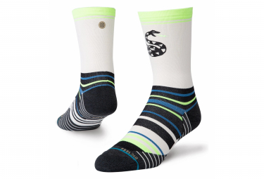 Par De Calcetines Altos Stance Pile Up Blanco Negro Verde 43 46