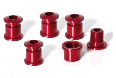 XLC CR-X01 Kettenblatt-Schraubensatz (5 Stück) 7 mm rot