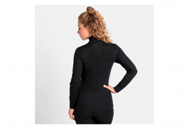 Maillot Manches Longues 1/2 Zip Femme Odlo Active Warm Eco Noir