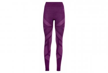 Long Tight Odlo Natural   Kinship Warm Purple Mujer S