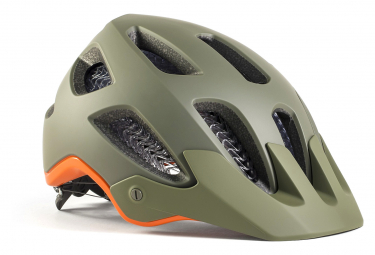 Bontrager Rally WaveCel MTB Helm Olivgrau / Orange