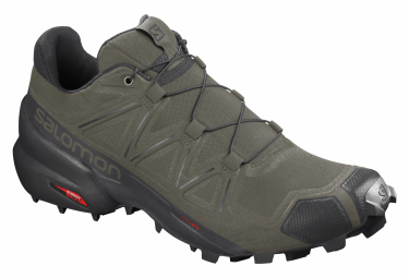 Salomon Speedcross 5 Green / Black Trail Shoes