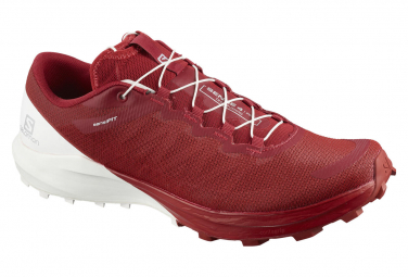 Salomon Sense 4 Pro Red / White Trail Shoes