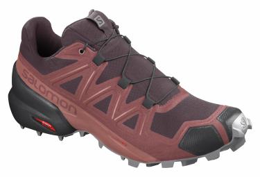 Zapatillas Salomon Speedcross 5 para Mujer Rojo / Negro