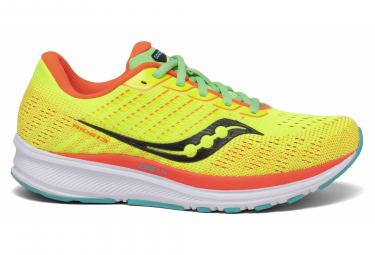 Paar Saucony Ride 13 Mutant Yellow Orange Damenschuhe