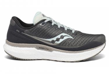 Par De Zapatos Para Correr Mujer Saucony Triumph 18 Gris Azul 39