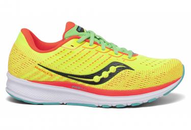 Paar Saucony Ride 13 Mutant Yellow Orange Schuhe