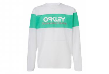 Oakley Tnp Feuriges Langarm-T-Shirt Weiß