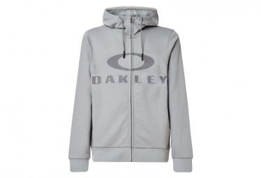Felpa con cappuccio grigia Oakley Bark FZ
