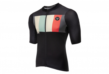 LeBram Aubisque Short Sleeve Jersey Black / Gray Tailored Fit