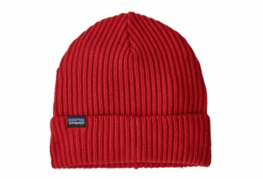 Bonnet Patagonia Fishermans Rolled Beanie Rouge