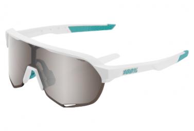 100% S2 Bora Hansgrohe Team White HiPER Silver Mirror / White glasses