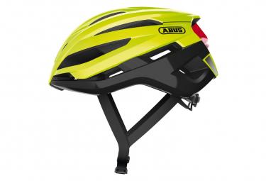 Casco Abus Sport Stormchaser Amarillo Fluo   Negro S  51 55 Cm