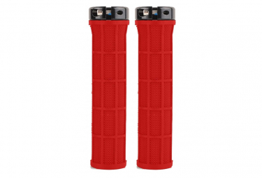 Pair of Grips Parts 8.3 Half Diamond Red