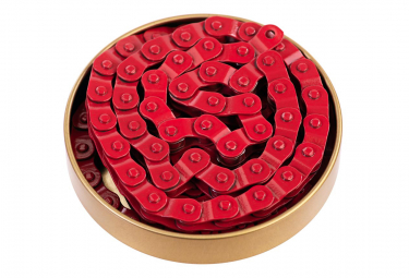 Gusset Chaine demi maillon montage 1/8 ROUGE Single Speed