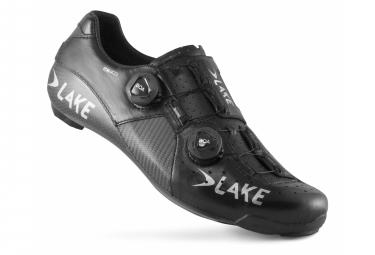 Chaussures de Route Lake CX403-X Noir / Argent - Modelo horma ancha