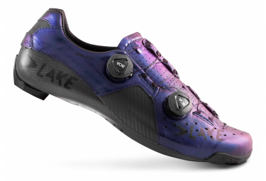 Chaussures de Route Lake CX403-X Chameleon Bleu / Noir - Modelo horma ancha