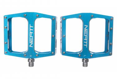 Paar flache Pedale Attack V2 XL 11 Pins Blau