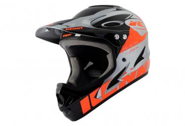 Casco Integral Kenny Down Hill Graphic Naranja Fluo   Plata Xxs  51 52 Cm