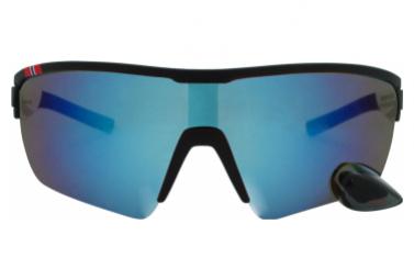 Image of Lunettes montures noires revo bleu avec retroviseur m