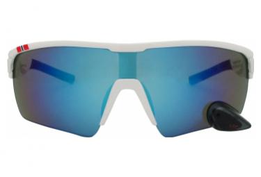 Image of Lunettes montures blanches revo bleu avec retroviseur s