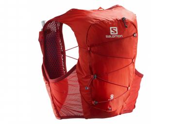 Salomon Active Skin 8 Set Hydration Backpack Red Unisex