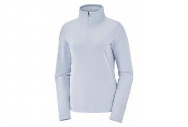 Forro Polar Con Cremallera 1 2 Salomon Warm Ambition Hz Para Mujer  Azul S