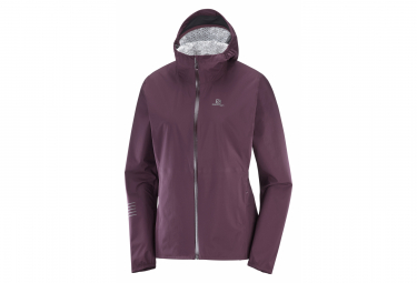 Veste Imperméable Femme Salomon Lightning WP Rouge