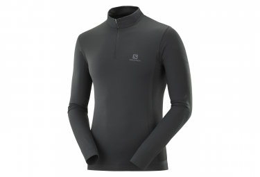 Maillot ML 1/2 zip Salomon Explore Seamless HZ Noir