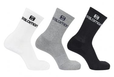 Chaussettes x 3 Salomon Everyday Crew Blanc Blanc / Gris / Noir Unisex