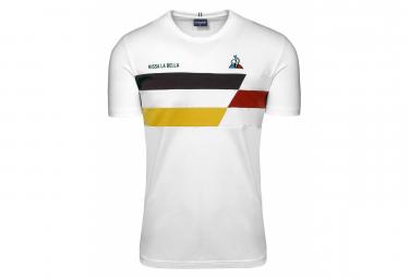 T-Shirt Manches Courtes Le Coq Sportif TDF 2020 Fanwear N°2 New Optical / Blanc