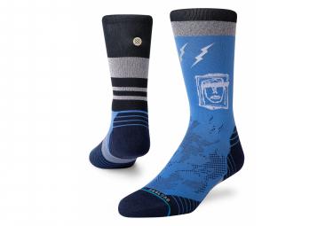 Pair of Stance Shatter Crew Socks Blue
