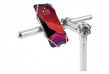 Image of Bike tie 3 gray support pour telephone ecran 5 8 a 7 2 pouces fixation guidon de velo gris clair