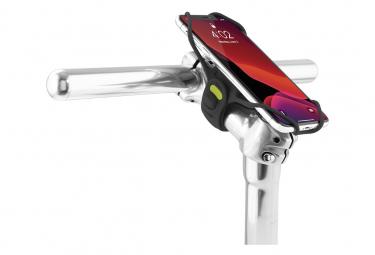 Image of Bike tie pro 3 black support pour telephone ecran 5 8 a 7 2 pouces fixation guidon ou tige de velo noir