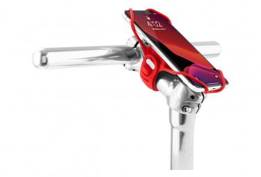 Bike Tie Pro 3 Red : support pour téléphone (écran 5.8 à 7.2 pouces) - fixation guidon ou tige de vélo - Rouge